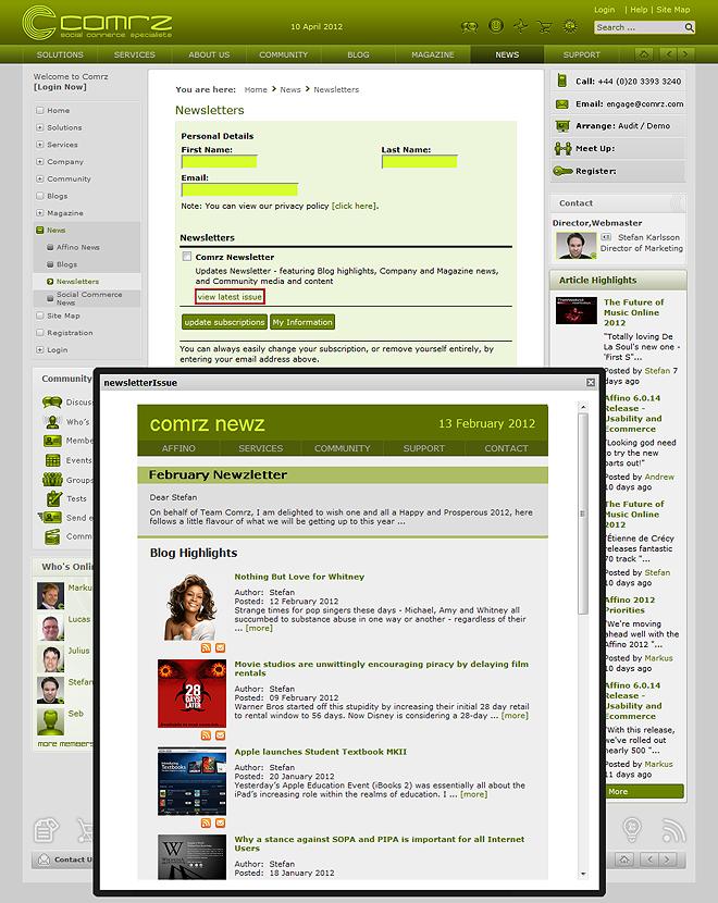 2012AFeaturesNewsletterSignup660