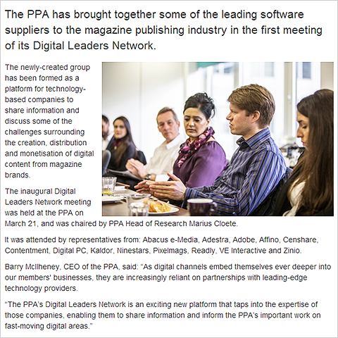 Affino CEO Markus Karlsson features prominently in inaugural PPA Digital Leaders Network meeting