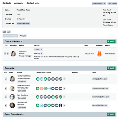 Affino 7.5 - The CRM Edition